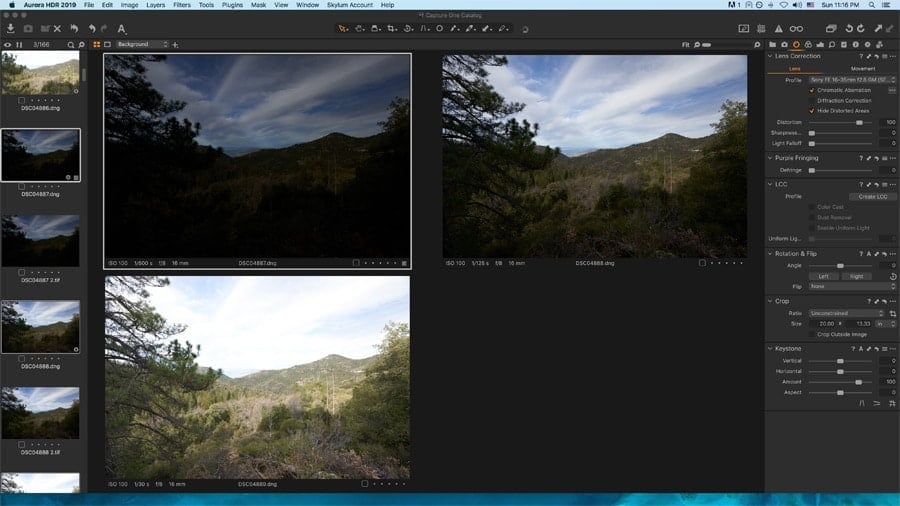 Capture One has no HDR ability