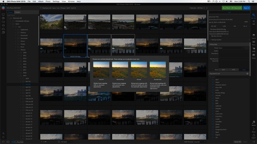 alternatives apps to lightroom on1 - local screenshot