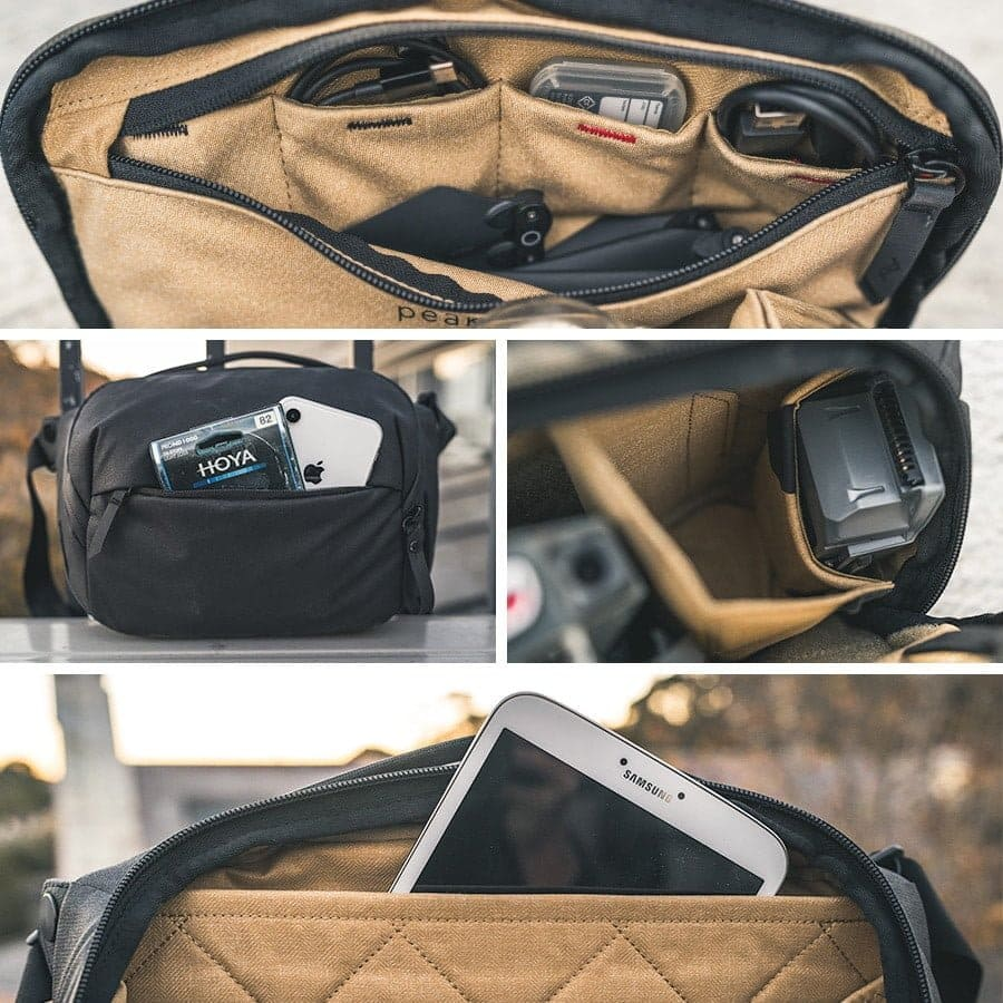 Countless compartments of the Peak Design Everyday Sling 5L