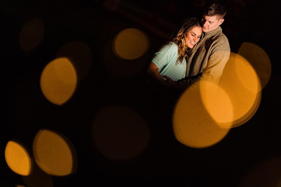 Romantic couple shot lit with CL2000