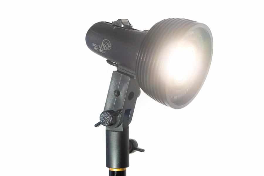 Stello Pro light turned on sitting on CheetahStand C10