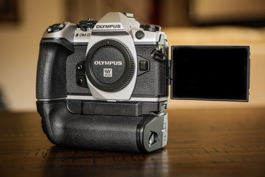 Olympus OM-D Mark II close up on bench