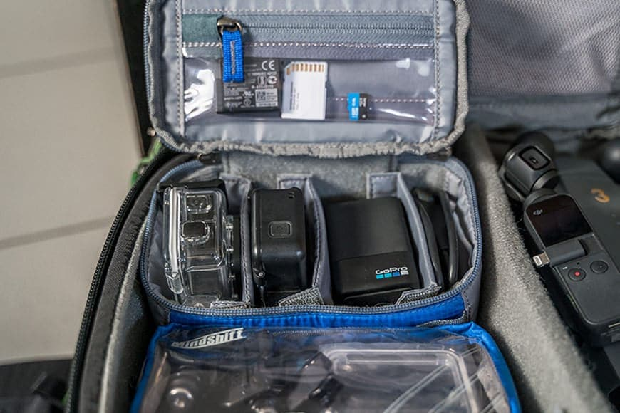 The Mindshift Gear Pouch Bundle is GoPro ready for the adventurous user