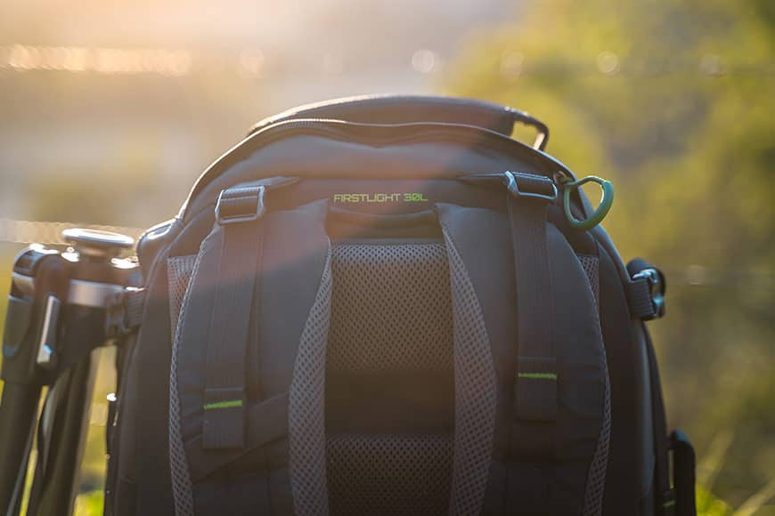 The Mindshift First Light 30L is covered in comfortable padding
