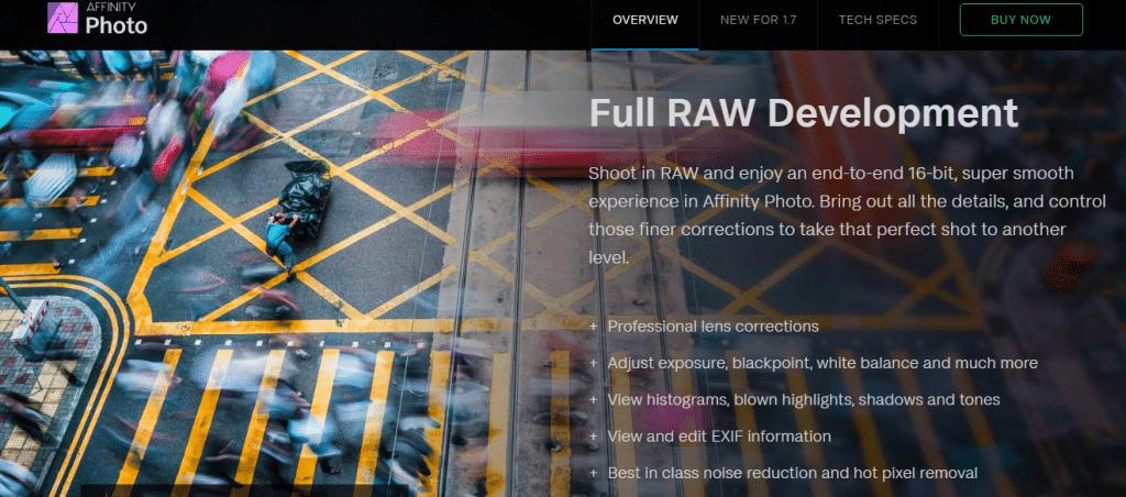 luminar vs affinity raw development