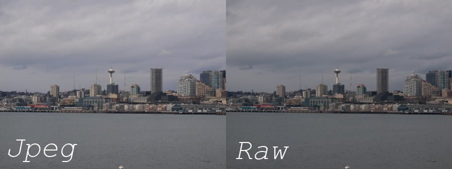 jpeg vs. raw out of camera (nb jpeg vs jpg is the same)