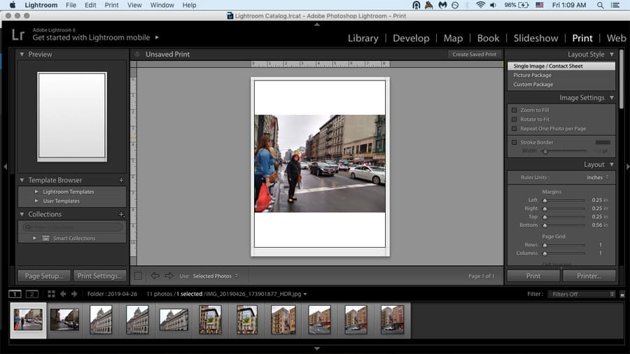 Lightroom's Print feature