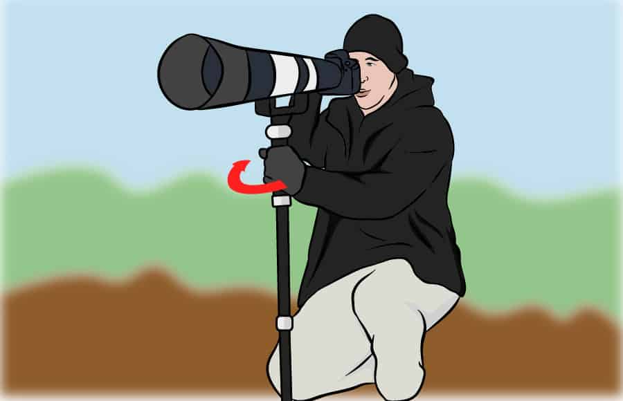panning with a monopod