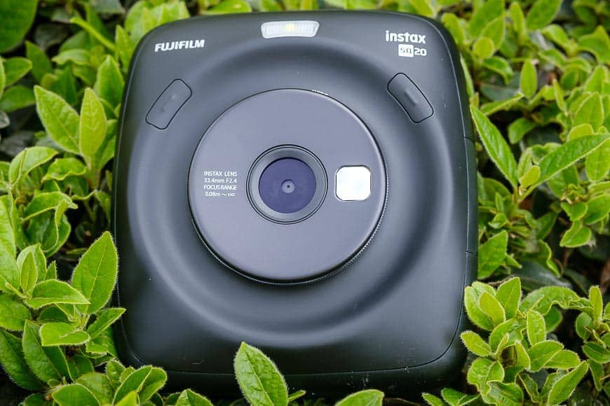 Closeup of the Fujifilm Instax SQ20