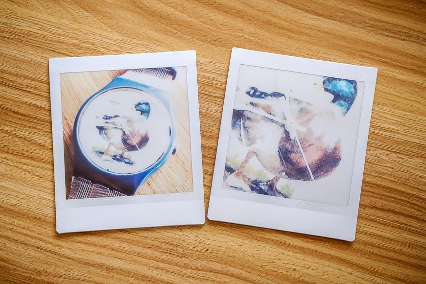 Fujifilm instant photos