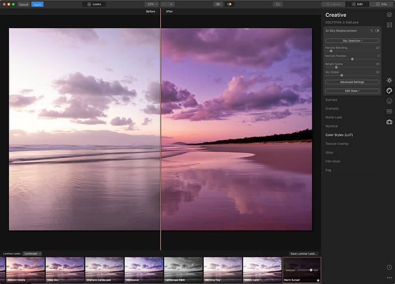 Luminar vs lightroom usage