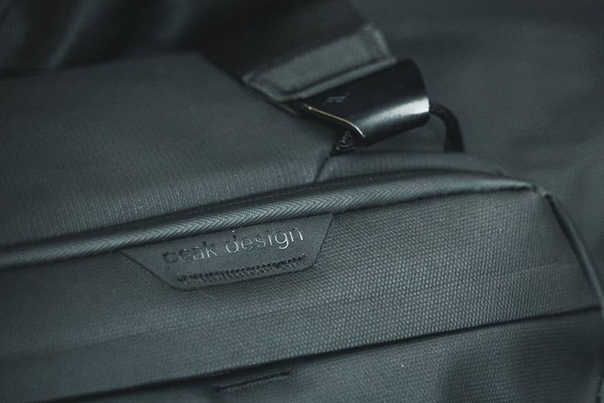 Peak Design Travel Duffel review weatherproof zip padded shoulder