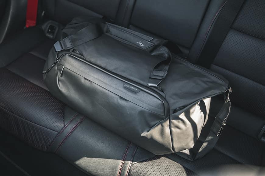 Peak Design Travel Duffel main compartment travel bags bottom liner black