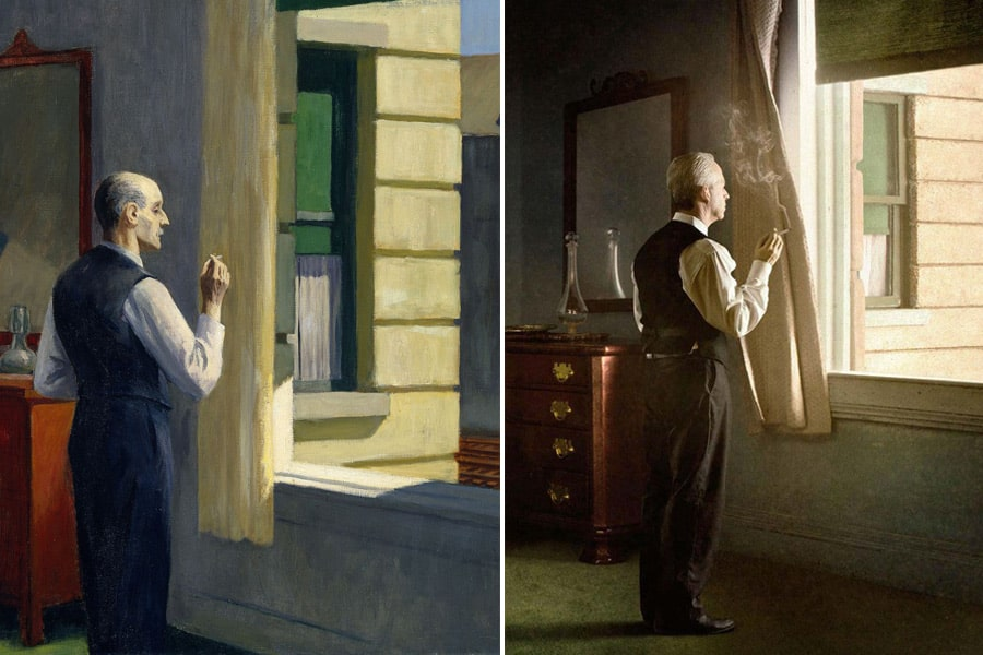 Edward Hopper painting/ Richard Tuchman photo