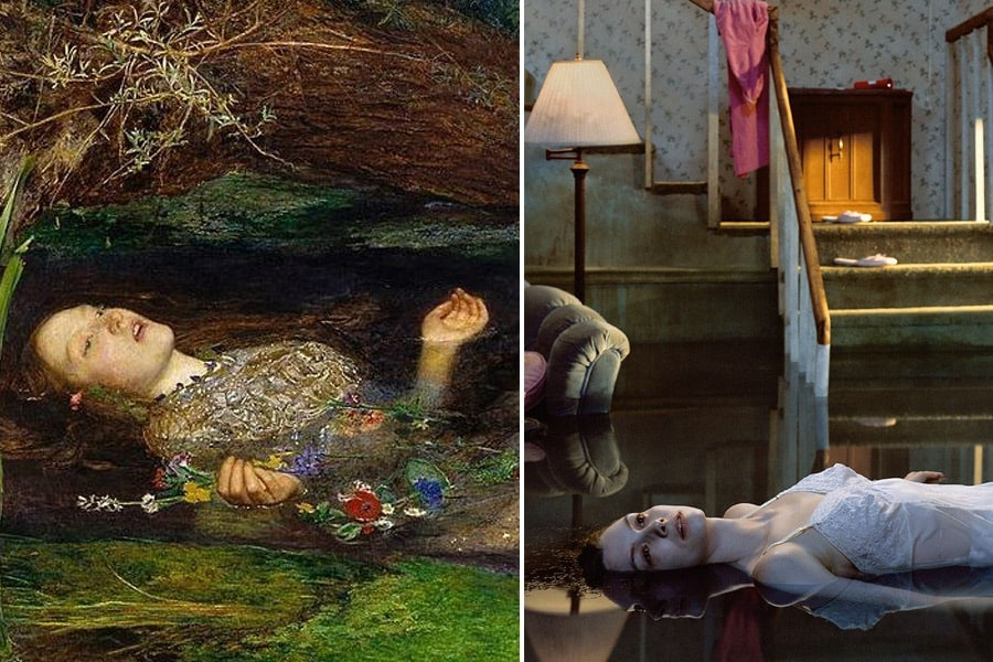 Sir John Everett Millais painting/ Gregory Crewdson photo