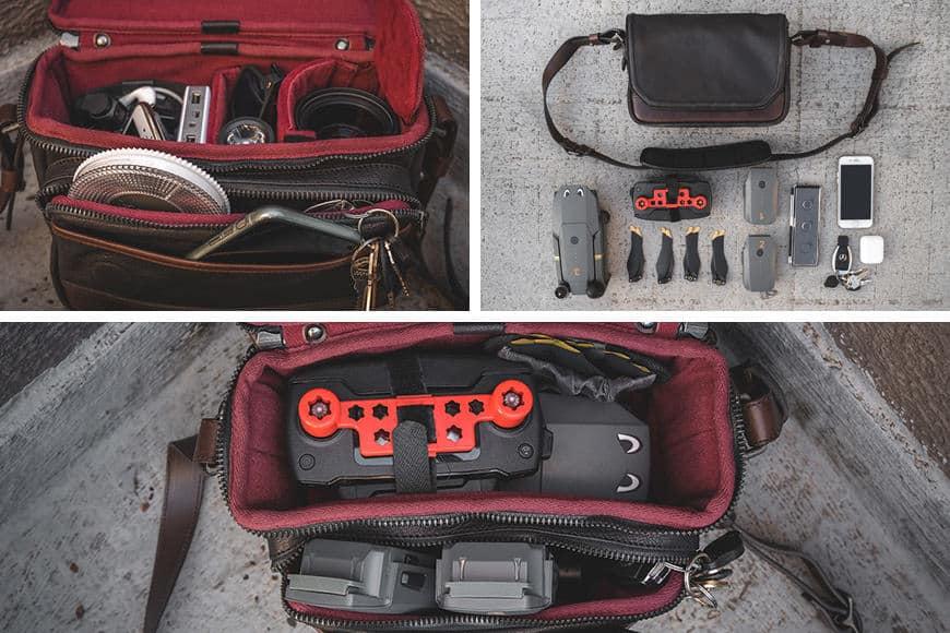 gear inside the wotancraft ryker camera bag