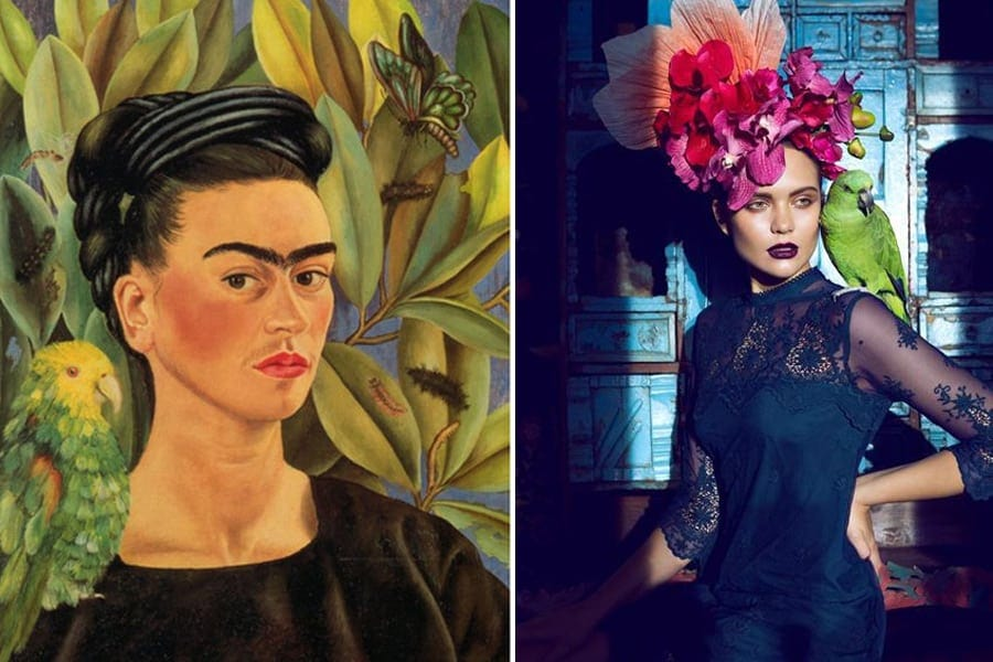Frida Kahlo painting/ Fredrik Wannerstedt photo