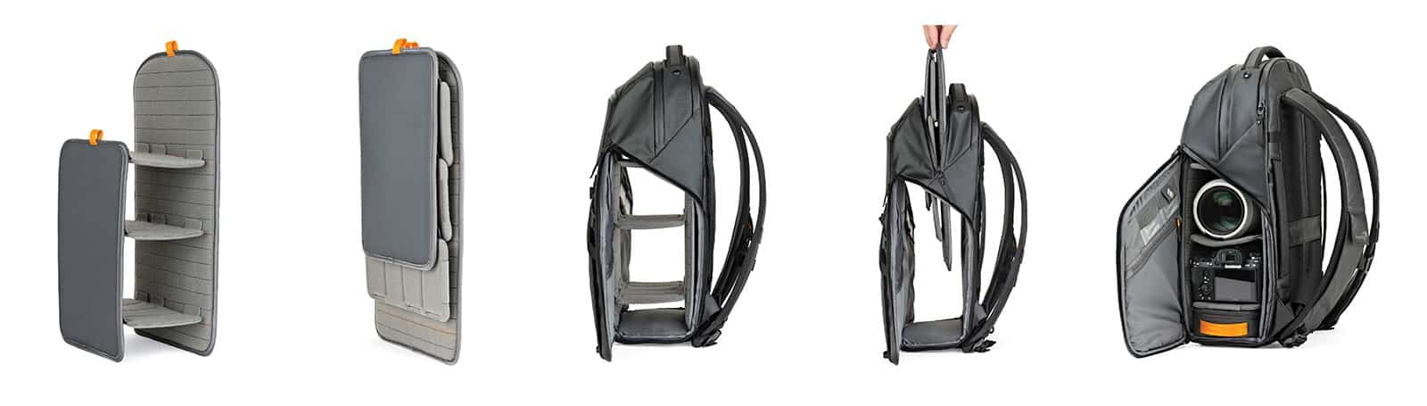 Lowepro FreeLine BP350 AW shelf system