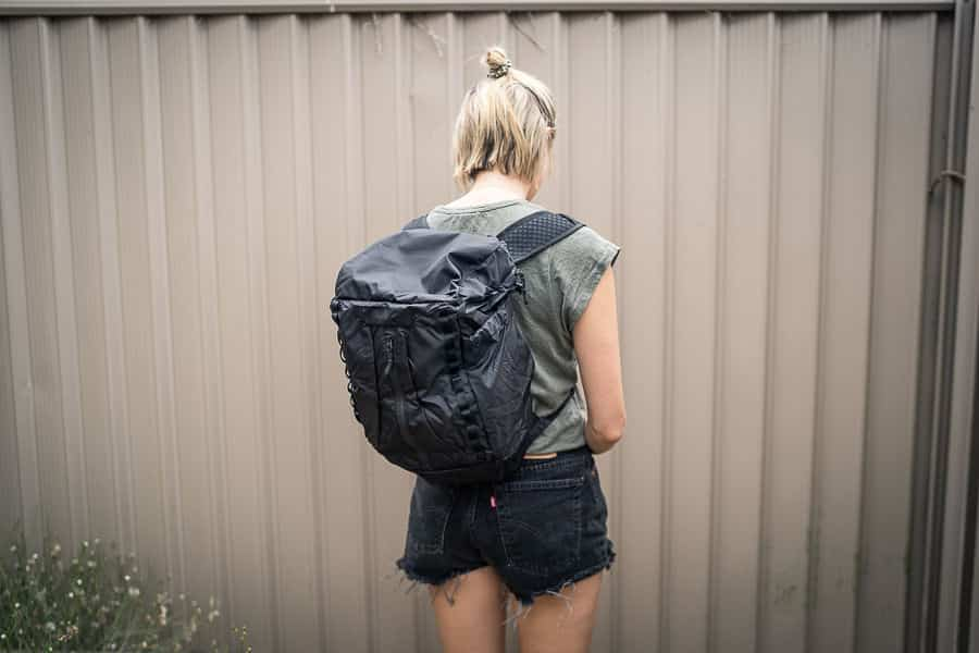 WANDRD veer female review - packable daypack which packs into own pocket. Small but well design with first class materials and plenty of room inside.