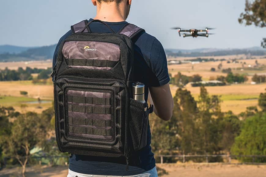 DroneGuard BP 250 is a great size and quite a slender bag for this capacity