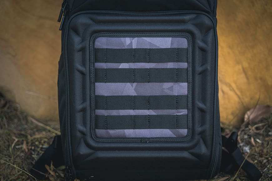 The stylish tactical style FormShell™ lid is a signature piece that makes up the DroneGuard BP 250