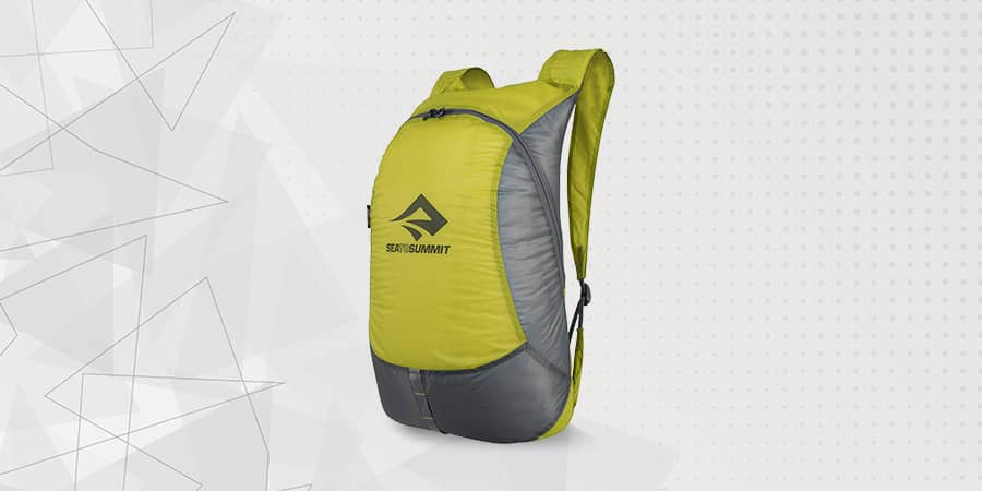 Sea to Summit Ultra Sil Daypack w/ s zippered pocket main compartment provides easy access and comfortable shoulder strap to carry loads