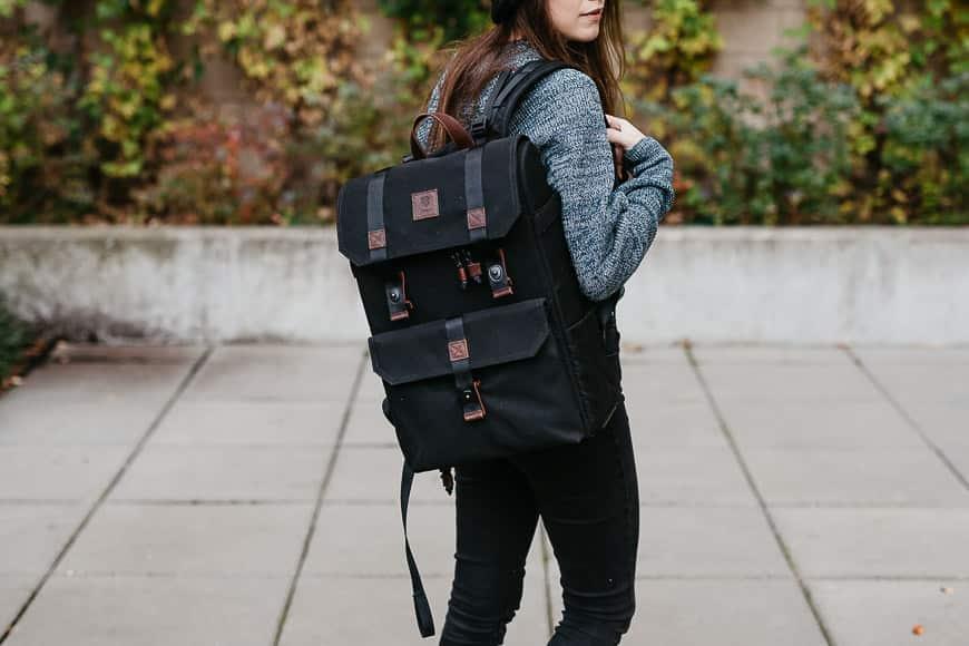 langley alpha compact bag on body