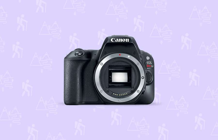 Canon DSLR one of the best cameras for hiking and backpacking