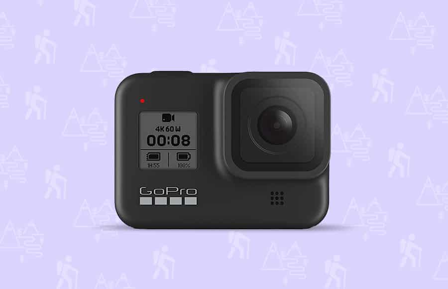 GoPro backpacking and hiking camera