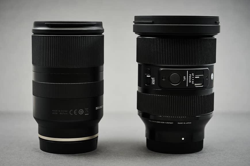 Sigma 24-70mm f/2.8 DG DN ART vs Tamron