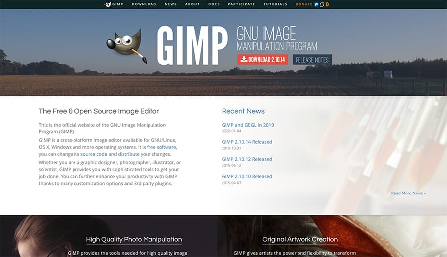 photoshop free alternative gimp