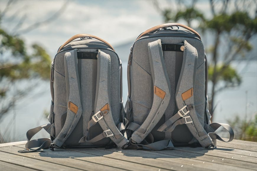 The Everyday Backpack Zip features comfortable shoulder straps and sternum strap. Part of everyday line, fits camera gear and water bottle. Magnetic shoulder strap feature.