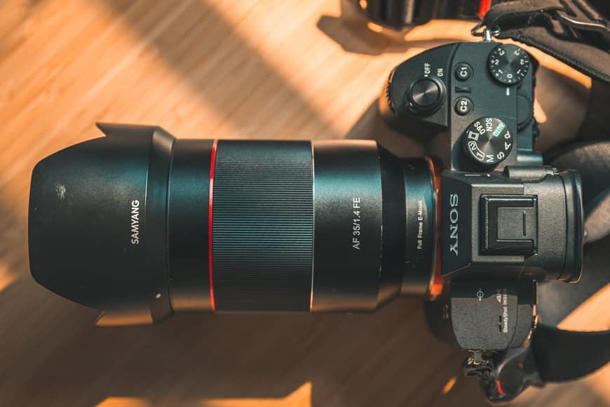 The Samyang AF 35mm f/1.4 FEis designed to pair up really nicely with the Sony Full-Frame range