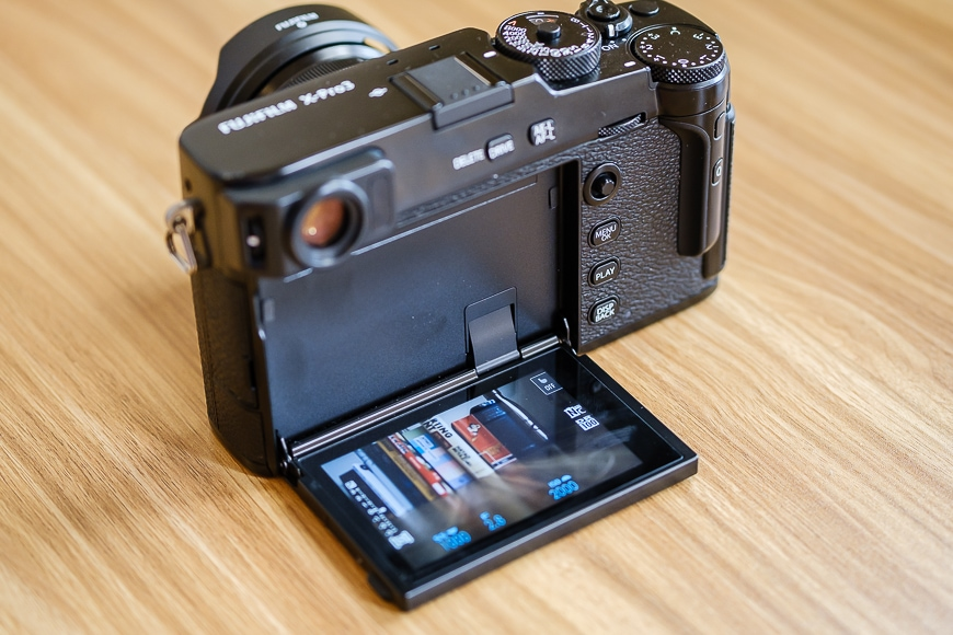 hidden rear lcd screen on the fujifilm x-pro3