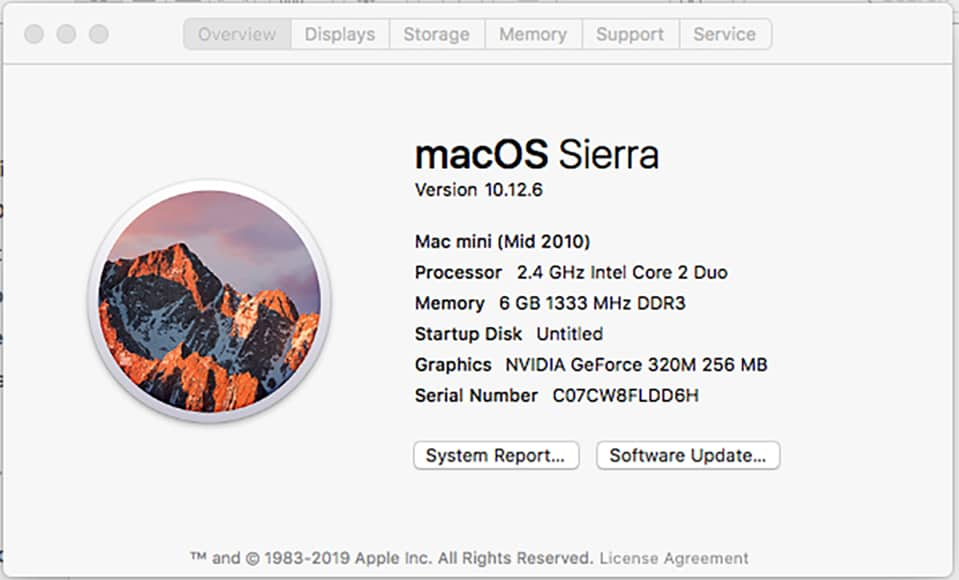 check latest version of mac os x or sierra
