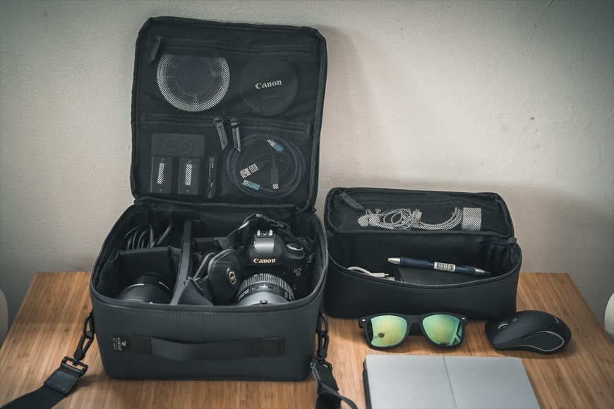 The Vinta Type-II Camera Kit comes with the Camera Field Pack and the smaller Compact Field Pack.