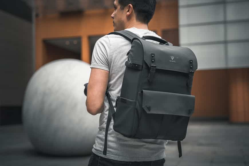 The Vinta Type-II Backpack even makes me look good. Sort of. Almost.