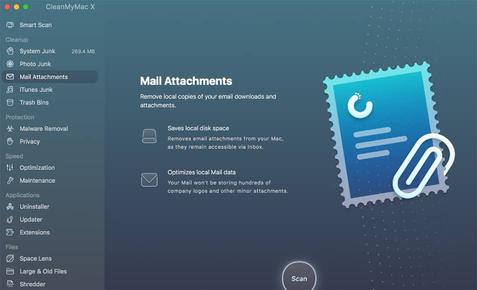 mail attachment cleaning screenshot cleanmymac x
