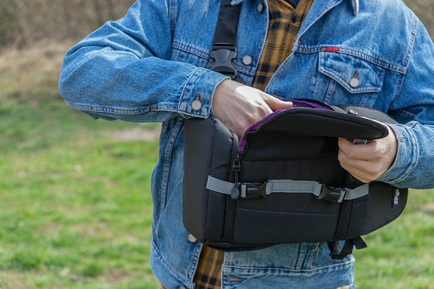 side access camera bag