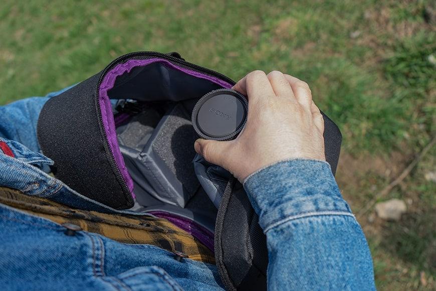 interior of the altura camera sling