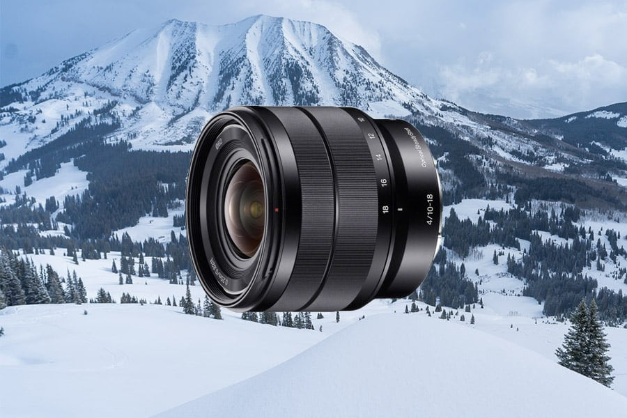 lens for sony with zoom but slower aperture. Image stabilization helps!