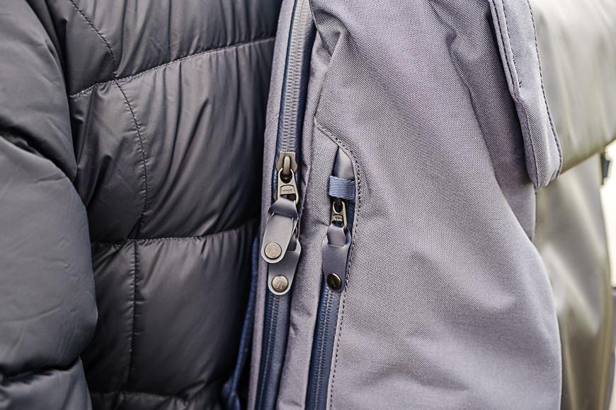 the Boundary Errant features waterproof zippers