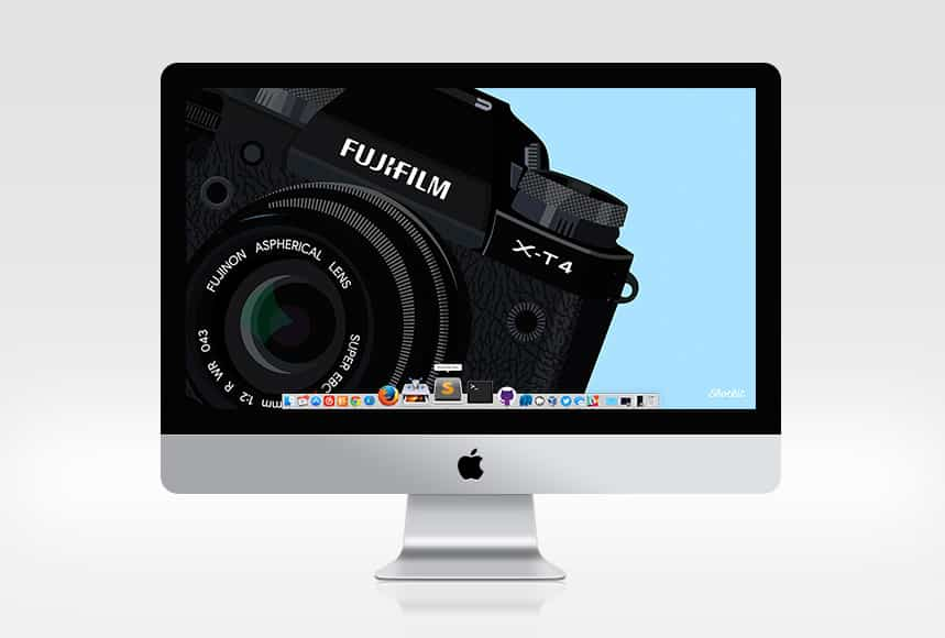 IMAC FUJI WALLPAPER MOCK