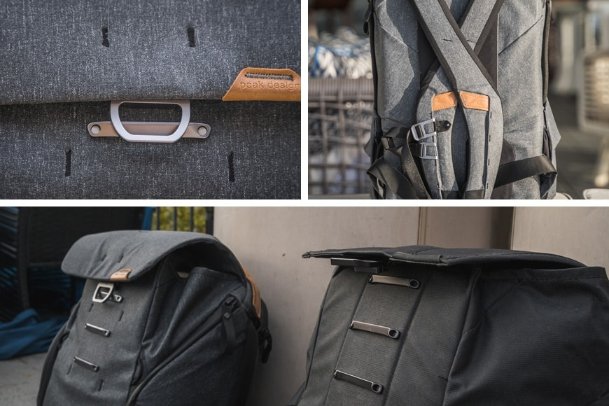 The Everyday Backpack V2 features a newly designed and improved top lid and MagLatch which no longer pops open when the bag is fully loaded right to the top.