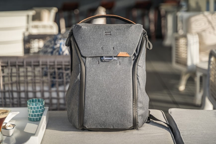 The Everyday Backpack V2 is a fantastic looking bag that fits in to any situation.