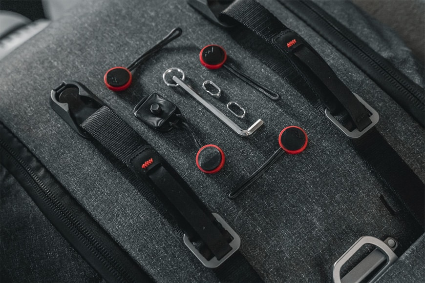 The Peak Design Leash hobby kit comes with everything you need for a multi-option carry style.
