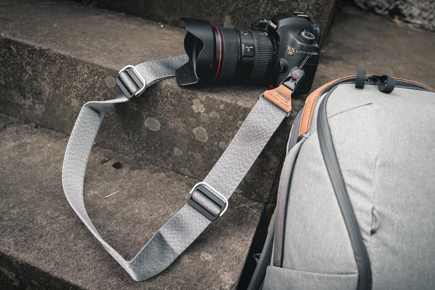 The Peak Design Slide is a fantastic camera strap paired with any camera. My preference is with my Canon.