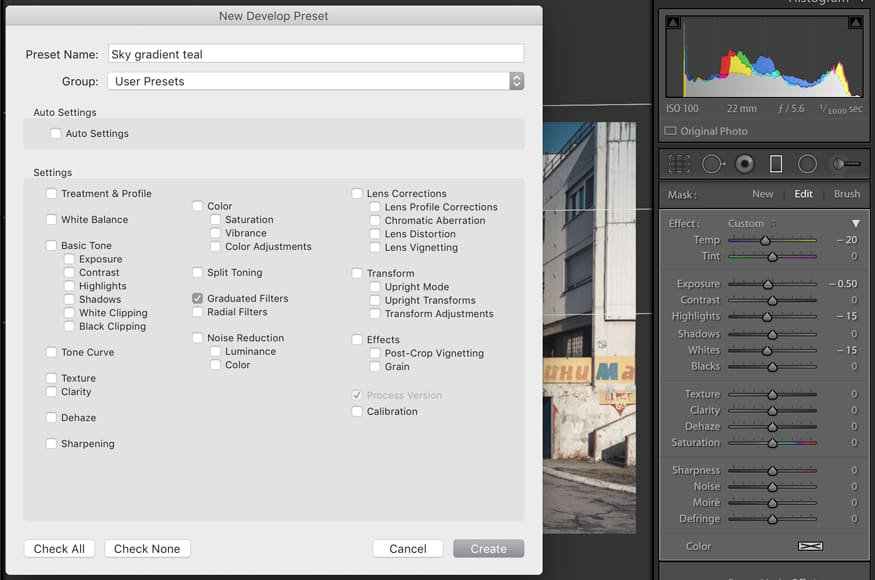 use presets in photo editors for easier image editing