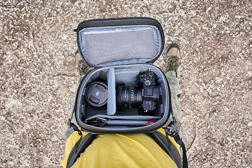 The rotating waist pack on the mindshift rotation 180 v2.0 camera backpack
