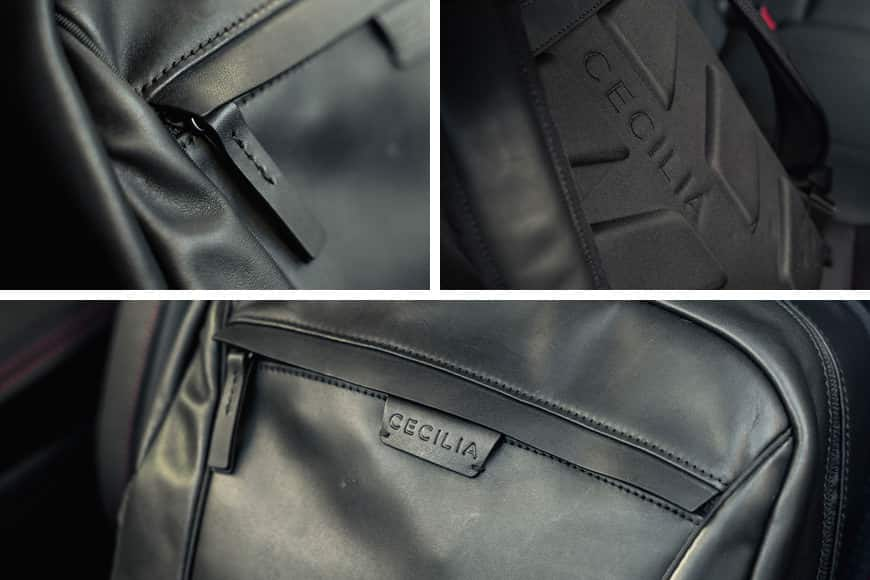 The Cecilia Humboldt 14L Backpack boasts carefully crafted and detailed stitching throughout.